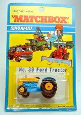 """MATCHBOX 39 ford tractor Bleu & Jaune top dans """"superfast"""" BLISTER"""