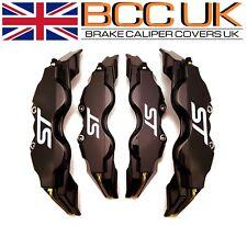 BLACK Brake Caliper Covers DIY Kit White ST Logo Front Rear S+M fits FORD