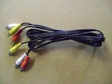 Cable noir 3 RCA male et 3 RCA male vidéo + son 1.20 m /J27