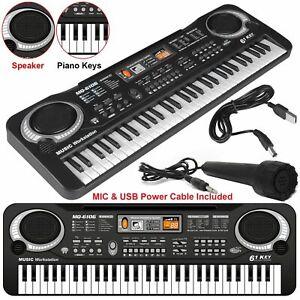 Digital Electronic 61 Keys Piano Electric Music Keyboard Organ Mini Microphone