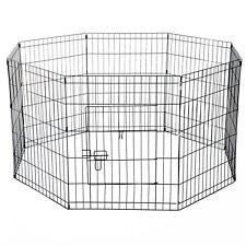 PawHut  Recinto per Cani Gatti Roditori Recinzione Rete Gabbia, 76 x 61cm, Nero
