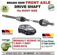 Pour Renault Scenic III 1.6dCi 1.9dCi 2009-2016 Neuf Essieu avant Droit Arbre