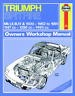 Triumph Spitfire All Models 1962-1981 Haynes Workshop Manual Service Repair