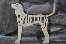 Bluetick CoonHound Hound Dog Wood Toy Scroll Saw Puzzle Blue Tick Figurine Art