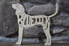 Bluetick CoonHound Hound Dog Wood Toy Scroll Saw Puzzle Figurine Art