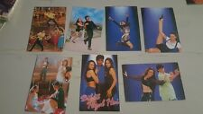 7 Old Vintage Bollywood Movie Color Picture Cards from India 1997