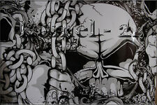 [35,53€/ m²] Schwarz skull Selbstklebende Klebe Autofolie Stickerbomb folie