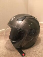 Sparx Motorcycle Streetbike Helmet FC07 Gunmetal Medium W/CLEAR AND SMOKE visors
