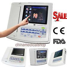 US Touch Screen Electrocardiograph ECG/EKG 12 channel/lead cardiograph ECG1200G