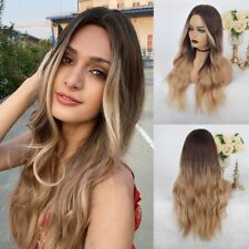 10A Blonde Brazilian Full Lace Ombre Light Brown Wig Human Hair Lace Front Wigs