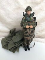 HM Armed Forces Paratrooper Soldier Military Army Action Figure Toy & Parachute