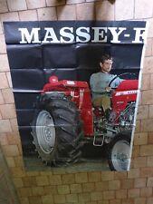 AFFICHE ORIGINALE ANCIENNE  : tracteur MASSEY FERGUSSON ( partie 1 )
