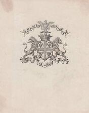 § EX-LIBRIS héraldique LE CLERC de JUIGNÉ - Anjou - XIXème siècle §