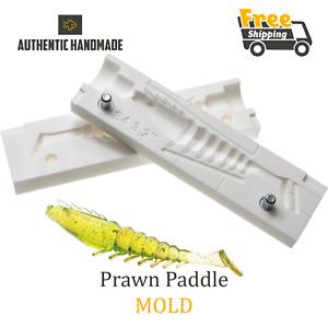 Bait Mold Prawn Paddle Fishing Lure Shad Shrimp Soft Plastic 81 mm