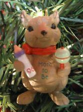 HALLMARK Keepsake 1996 MOM TO BE Mouse Bottle Rattle Christmas Ornament 5700:S13