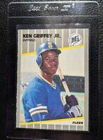 1989 FLEER #548 KEN GRIFFEY JR ROOKIE CARD RC SEATTLE MARINERS HOF