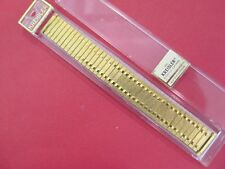 "NEW Kreisler 24K Gold Plated Mens Watch Band..6 3/8"" Long Self Adj Ends16-20mm"
