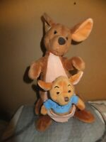 "14"" KANGA & ROO Soft Touch Plush Toy From WINNIE THE POOH The Disney Store"
