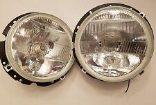 h4 headlight h3 fog driving mk1 golf jetta rabbit cabriolet 7 round lights pair