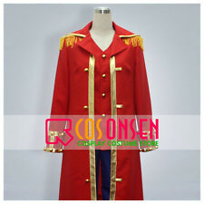 Cosonsen One Piece Monkey D Luffy Pirate King Cosplay Costume All Sizes Red