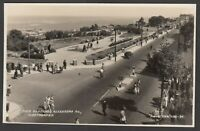 Postcard Cleethorpes near Grimsby Lincolnshire the Pier Gardens posted 1950 RP