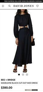 Bec And Bridge Black Dress s12 rrp$380