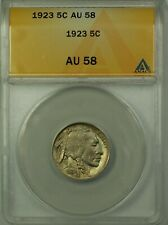 1923 Buffalo Nickel 5c Coin ANACS AU-58 Better Coin