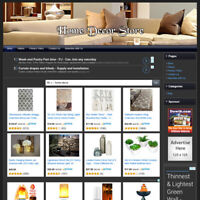 Home Décor STORE - Sofa, Flame Lamp Home Based Online Business Website For Sale!
