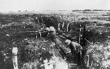 German Machine Gunners in Trench - 8x10 World War I Photo WWI