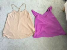 Ladies Floaty Cami Top X2 Lilac River Island & Nude New Look Size 8 Vgc
