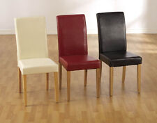 Red Leather Dining Room Chairs For Sale Ebay