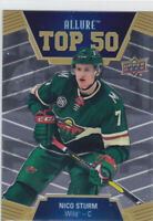 19/20 ALLURE..NICO STURM..TOP 50..# T50-43..WILD..FREE COMBINED SHIP
