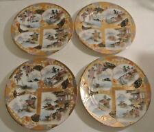 SET RARE Antique Meiji Japanese SIGNED Painted SATSUMA PLATES Geisha - 12 AVAIL