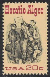 Scott 2010- Horatio Alger, Author- MNH 20c 1982- unused mint stamp