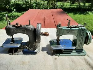 2 Vintage/Antique Miniature Toy Sewing Machines BETSY ROSS & STICH MISTRESS