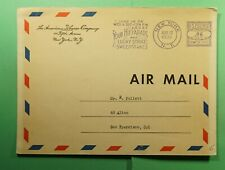 DR WHO 1936 NY SLOGAN CANCEL METERED POSTCARD ADVERTISING TOBACCO  f52514