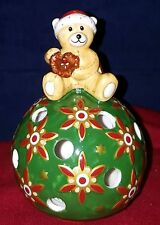 Villeroy & Boch Mettlach Teddy Bear tea light votive Christmas holiday NIB