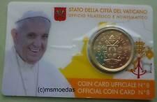 Vaticano 50 EURO CENT GETTONE 2017 Coincard no. 8 EURO MONETA COIN moedas BLISTER BU