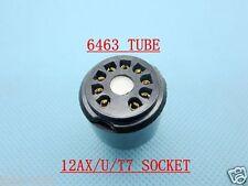 1pc Gold 6463(Adapter top) TO 12AX7 12AU7 12AT7(amp Socket) tube converter adapt
