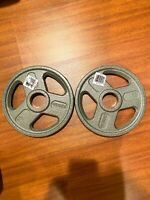 "(2) 10 Lb Weider Olympic 2"" Weight Plates. 20 Lb Total. New! FAST FREE SHIPPING"