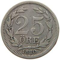 SWEDEN  25 ORE 1880 #s3 385
