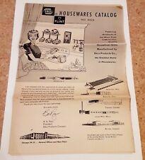 Ecko Flint housewares catalog 1950s vintage kitchen gadgets tableware bakeware