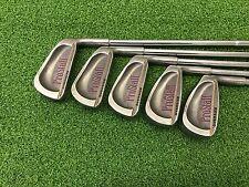 NICE Wilson Golf PROSTAFF OVERSIZE Iron Set 5-9 Right RH Steel REGULAR Used Mens