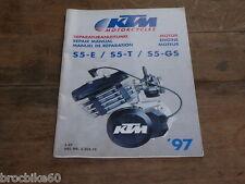MANUEL REVUE TECHNIQUE D ATELIER MOTEUR KTM 50 SXR 1997 -> REPAIR MANUAL ENGINE