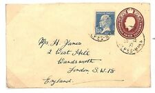 C276 1927 France GB Combination Franking Unusual Used Abroad Item French CDS PTS