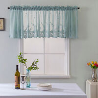 Lace Elegant for Kitchen Cafe Bedroom Room Net Curtain Window Door Covering PA
