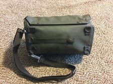 Vintage Army Military Bag Satchel Green Waterproof Shoulder Strap Melli 1986 New