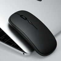 Ultra Slim Bluetooth 5.2 + 2.4G Wireless Mute Computer Mouse for PC Laptop