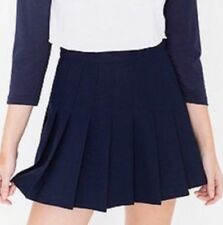 American Apparel Patriot Navy Blue Gabardine Pleated Tennis Skirt Medium