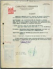 Spain Espana doc. with Revenue Stamp Fiscal Fiscaux Customs Aduanas 1963